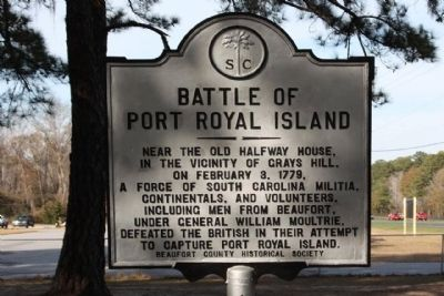 Battle of Port Royal Island Marker image. Click for full size.