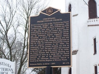 Christiana Presbyterian Church Marker image. Click for full size.