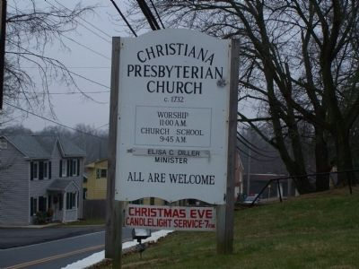 Christiana Presbyterian Church Sign image. Click for full size.