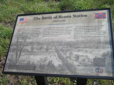 The Battle of Reams Station Marker image. Click for full size.