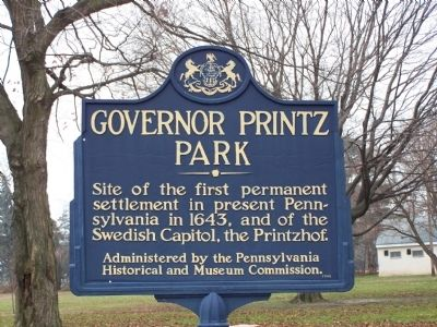 Governor Printz Park Marker image. Click for full size.