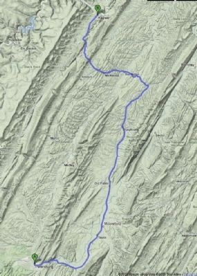 Google Terrain Map – Petersburg to Keyser (New Creek) image. Click for full size.