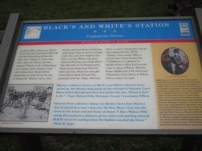 Black's and White's Station Marker image. Click for full size.