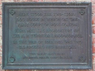 First Court of Ross County Marker image. Click for full size.