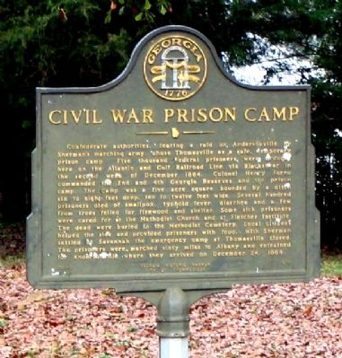 Civil War Prison Camp Marker image. Click for full size.