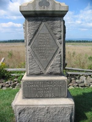 1st Delaware Infantry Position Monument image. Click for full size.