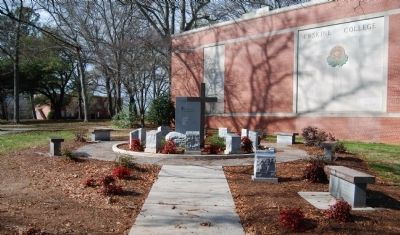 10 Commandments Prayer Garden -<br>Located a Few Feet Northwest of the Fountain image. Click for full size.