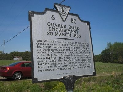Quaker Road Engagement Marker image. Click for full size.