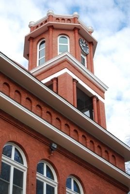 Erskine College -<br>Lesesne Auditorium Clock Tower Detail image. Click for full size.