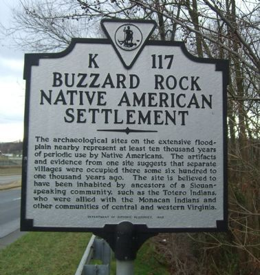 Buzzard Rock Native American Settlement Marker image. Click for full size.