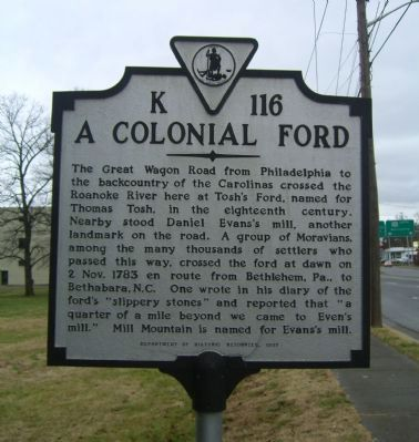 A Colonial Ford Marker image. Click for full size.