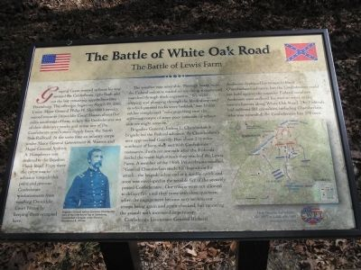 The Battle of Lewis Farm Marker image. Click for full size.