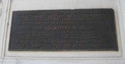 The Squatters Riot Marker image. Click for full size.