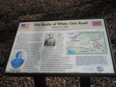 The Battle of White Oak Road Marker image. Click for full size.