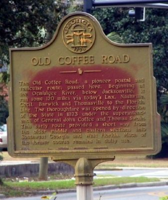 Old Coffee Road Marker image. Click for full size.