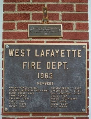 West Lafayette Volunteer Fire Department 1963 Members image. Click for full size.