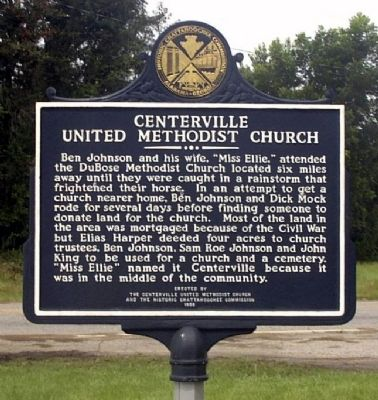 Centerville United Methodist Church Marker, Side 1 image. Click for full size.