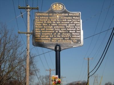 Lynching of Zachariah Walker Marker image. Click for full size.