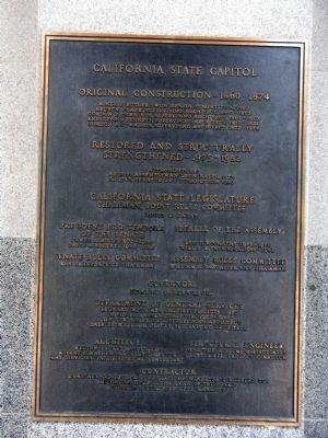 California State Capital Marker image. Click for full size.