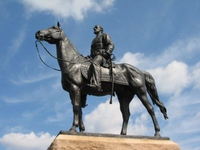 Equestrian Statue of General Meade image. Click for full size.