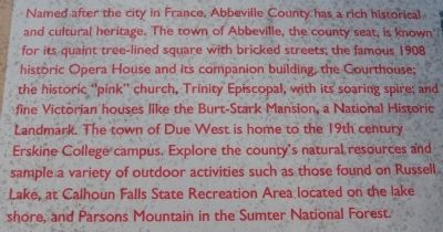 Abbeville County Marker image. Click for full size.