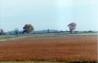 Pickett's Charge as seen from Seminary Ridge image. Click for full size.