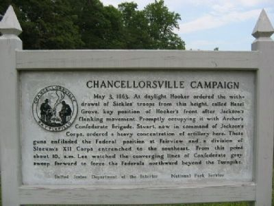 Chancellorsville Campaign Marker image. Click for more information.