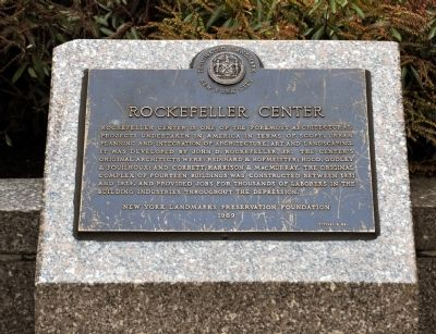 Rockefeller Center Marker image. Click for full size.