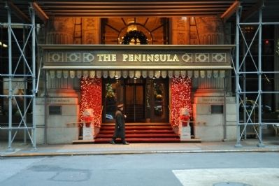 Peninsula Hotel Grand Entrance image. Click for full size.