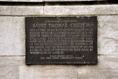 Saint Thomas Church Marker image. Click for full size.