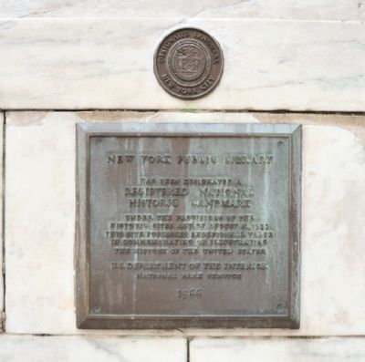 New York Public Library Marker image. Click for full size.