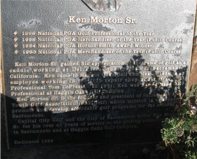 Ken Morton, Sr. Marker image. Click for full size.