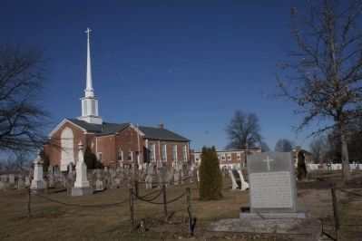 Christ Reformed Church Marker and church image. Click for full size.