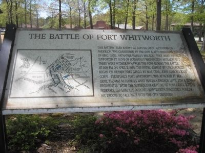 The Battle of Fort Whitworth Marker image. Click for full size.