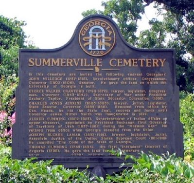 Summerville Cemetery Marker image. Click for full size.