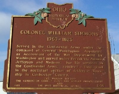 Colonel William Simmons Marker image. Click for full size.