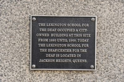 Lexington School for the Deaf Marker image. Click for full size.