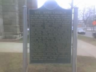 Ste. Anne Church Marker image. Click for full size.