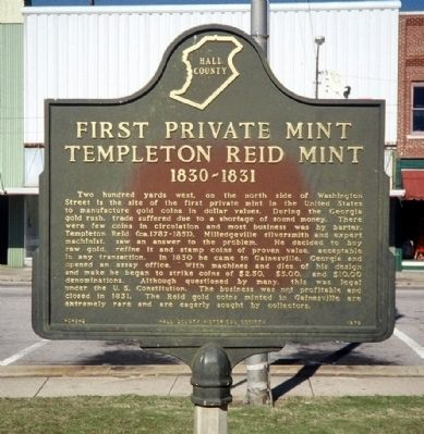 First Private Mint Templeton Reid Mint Marker image. Click for full size.