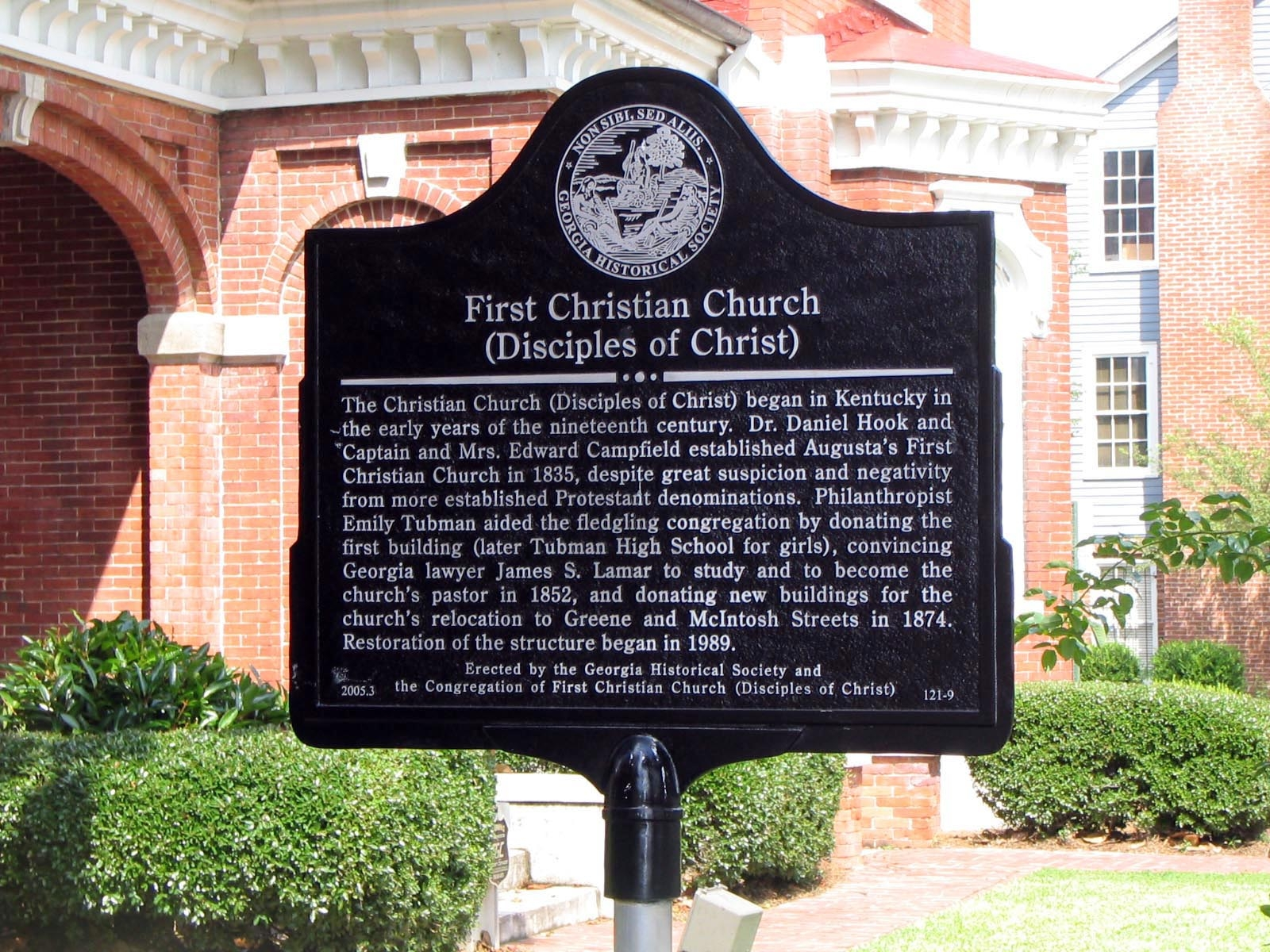 First Christian Church Marker