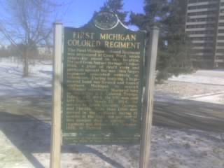 First Michigan Colored Regiment Marker image. Click for full size.