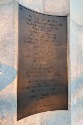 Prison Ship Martyrs Monument Plaque image. Click for full size.