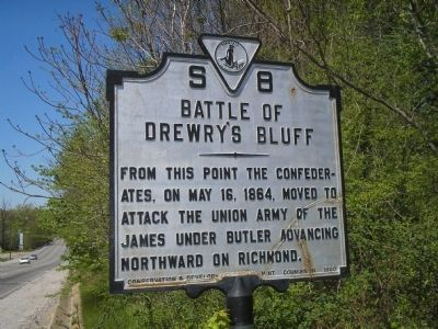 Battle of Drewry's Bluff Marker image. Click for full size.