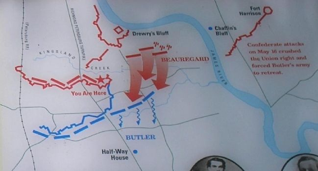 Fort Stevens Battle Map from Marker image. Click for full size.