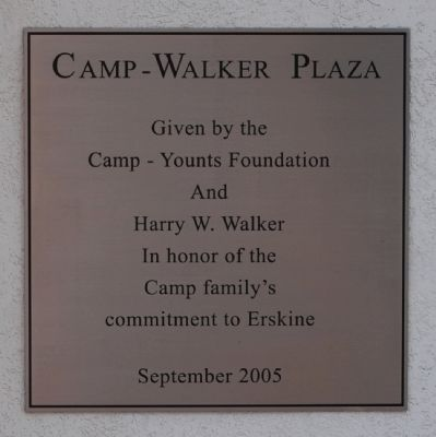 Camp-Walker Plaza Marker image. Click for full size.