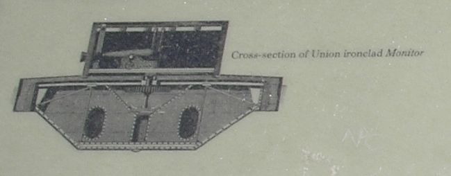 Cross-section of the USS Monitor image. Click for full size.