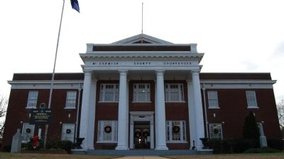 McCormick County Courthouse -<br>Confederate Monument, Far Left image. Click for full size.