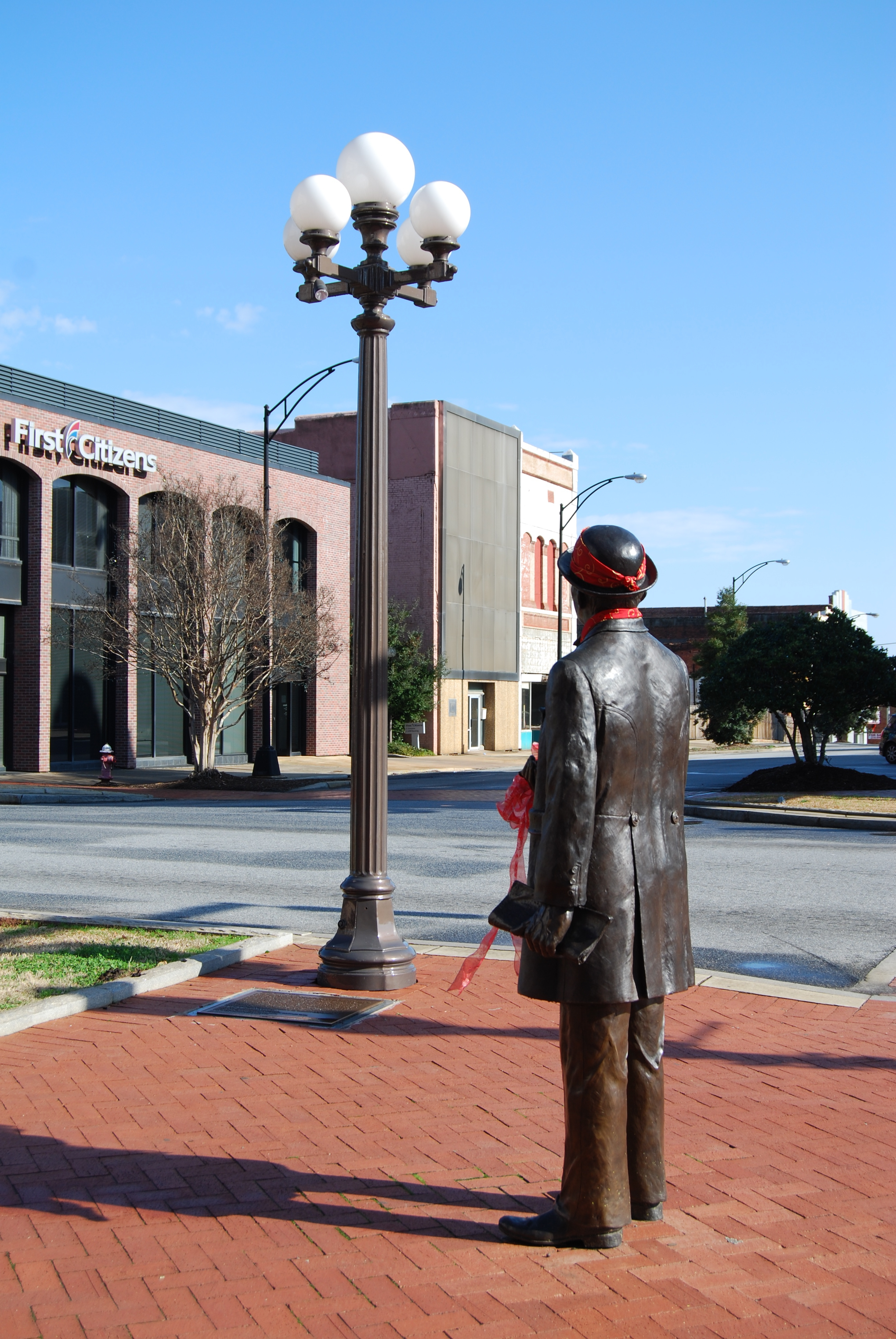 William Church Whitner Statue<br>and Antique Streetlight