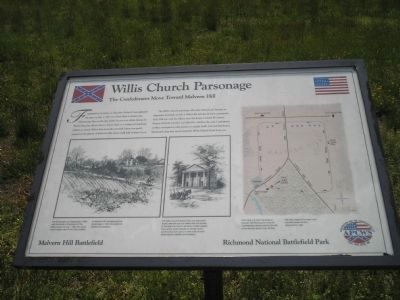 Willis Church Parsonage Marker image. Click for full size.
