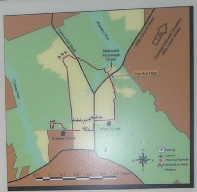 Battle of Malvern Hill Trail Map from Marker image. Click for full size.